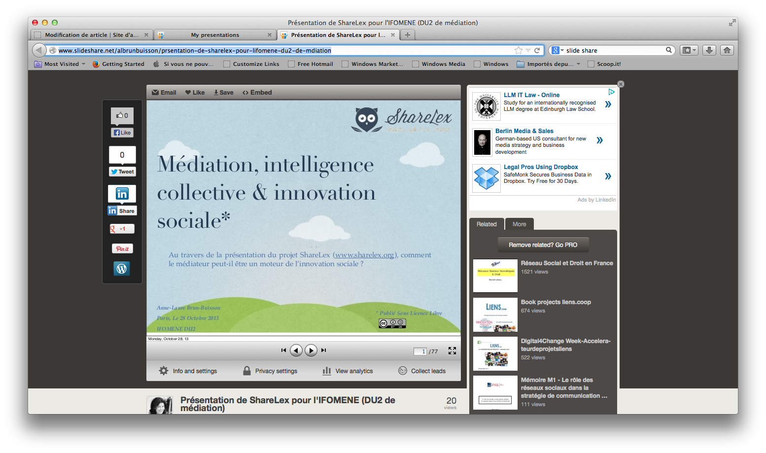 Médiation, intelligence collective et innovation sociale